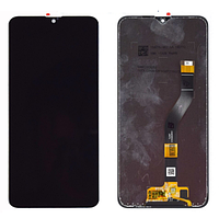 Дисплей  Samsung A107F Galaxy A10s 2019 с тачскрином (модуль), черный, оригинал , переклеено стекло