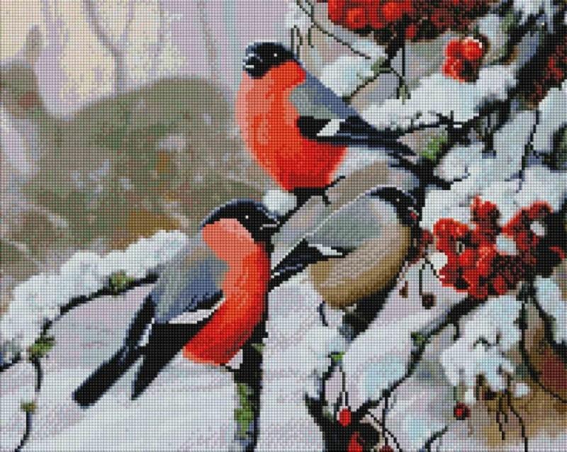 """Набір алмазної мозаїки """"Снігурі"""" (40 х 50)"""