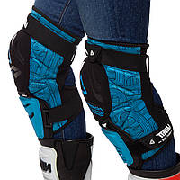 Наколінники для мотокросу (коліно, гомілка) 2шт LEATT HYBRID 3DF, нейлон, PL, EVA, чорно-блакитний (MS-0289)