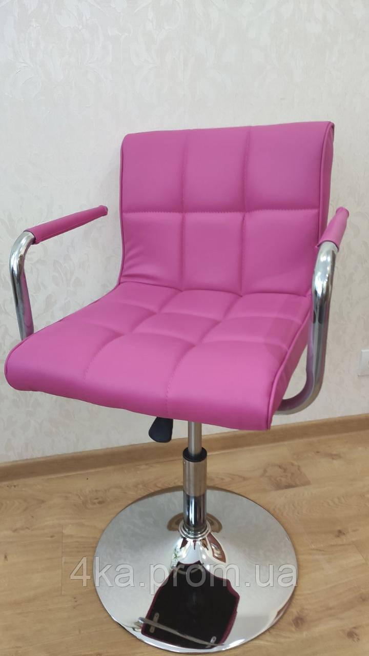Перукарське крісло НС 8325N рожевий