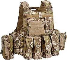 Жилет тактический Defcon 5 Body Armour Full Set. Цвет - мультилэнд