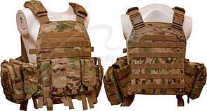 Жилет тактический TAR Tactical Vest Multicam NIJ IV (ДСТУ 4 класс) 7,62х54R пуля Б-32 4 пластины: передняя из