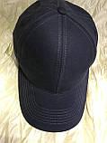 Бейсболка  из плотного коттона  56-58-60-62 цвет темно серый и синий и чёрный, фото 3