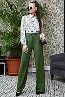 Женские широкие расклешенные брюки 1325 (42–50р) в расцветках, фото 1