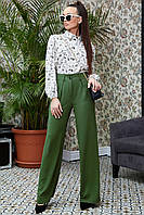 Женские широкие расклешенные брюки 1325 (42–50р) в расцветках