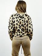 Костюм вязанный свитер+штаны Леопард  (S,M,L,XL) Польша коричневый 6698, фото 3