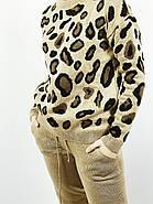 Костюм вязанный свитер+штаны Леопард  (S,M,L,XL) Польша коричневый 6698, фото 4