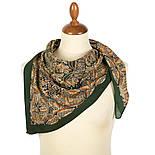 Пасьянс 796-9, павлопосадский платок из вискозы с подрубкой 80х80, фото 3