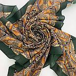Пасьянс 796-9, павлопосадский платок из вискозы с подрубкой 80х80, фото 9