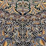 Пасьянс 796-9, павлопосадский платок из вискозы с подрубкой 80х80, фото 8