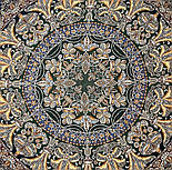 Пасьянс 796-9, павлопосадский платок из вискозы с подрубкой 80х80, фото 6