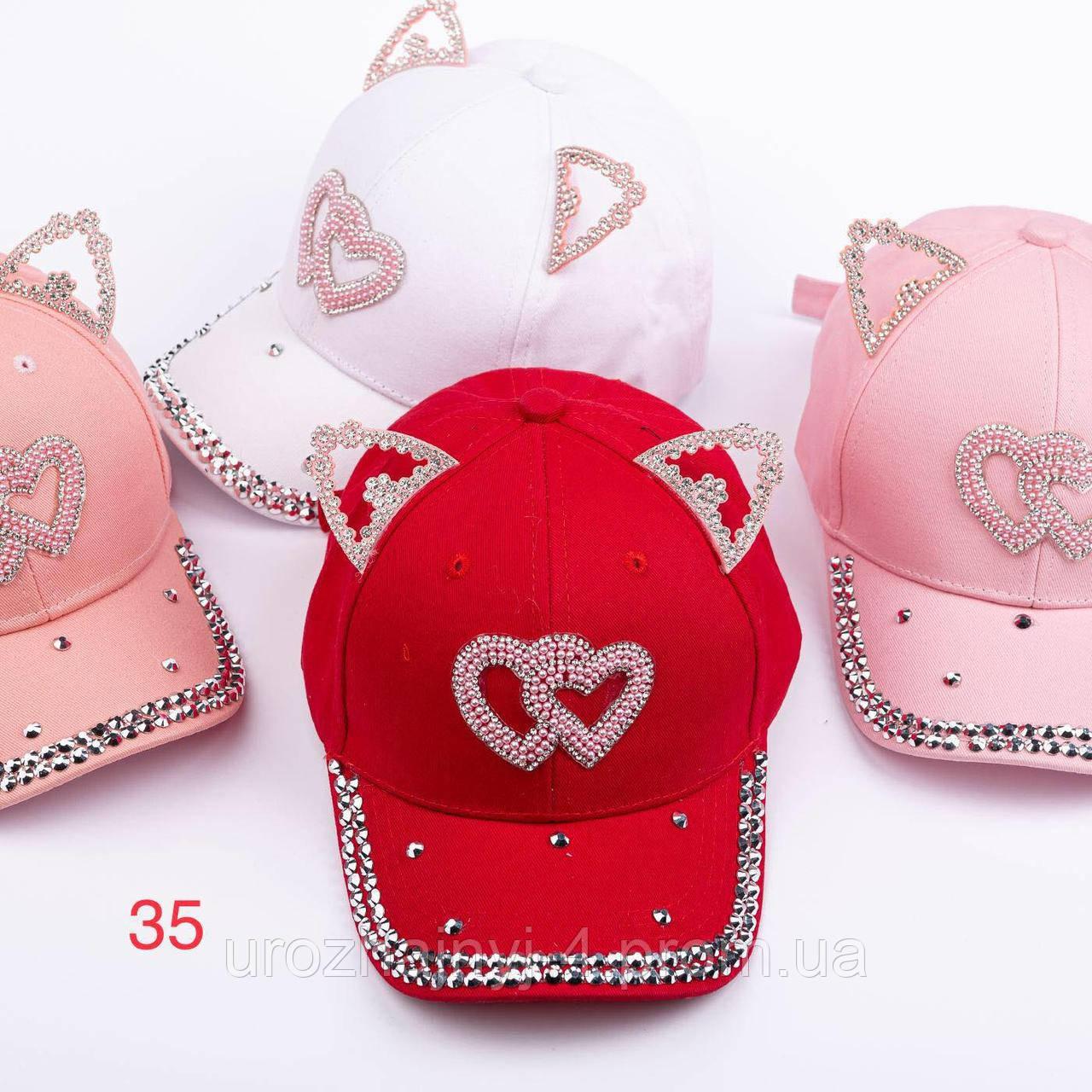 Котонові кепка з вушками р52-54