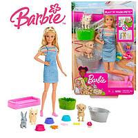 """Игровой набор Барби """"купай и играй"""" с питомцами Barbie"""