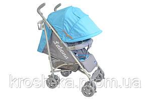Детская прогулочная коляска трость Labona Baby Line голубая Польша S 010(B-1)