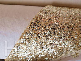 Глиттер на хб плотный крупный (золото)