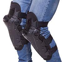 Комплект мотозащиты NERVE наколінники (колень+гомілка) пластик, PL, чорний (MS-0736)