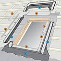 Комір Velux EDZ 0000 для профільованого покрівельного матеріалу для мансардних вікон Велюкс Стандарт, фото 4