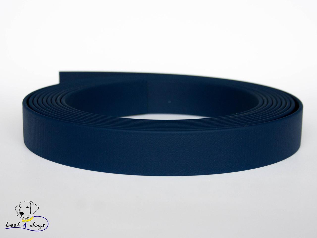 Ошейник-удавка из биотана, Синий Тёмный, 19мм