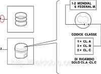 Кольца поршневые 82.00 2.5*2.0*2.0 STD 1.9D Doblo 2000-2005(4cyl) 71718185