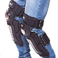 Комплект мотозахисту MADBIKEЗахист колін і гомілки Пластик PL Чорний (MS-4373)