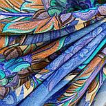 10473-14, павлопосадский платок шерстяной (разреженная шерсть) с швом зиг-заг, фото 4