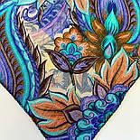 10473-14, павлопосадский платок шерстяной (разреженная шерсть) с швом зиг-заг, фото 9