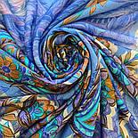 10473-14, павлопосадский платок шерстяной (разреженная шерсть) с швом зиг-заг, фото 6