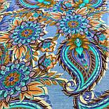 10473-14, павлопосадский платок шерстяной (разреженная шерсть) с швом зиг-заг, фото 7