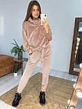 Модный велюровый костюм оверсайз 42-48рр.( 5 цветов), фото 7