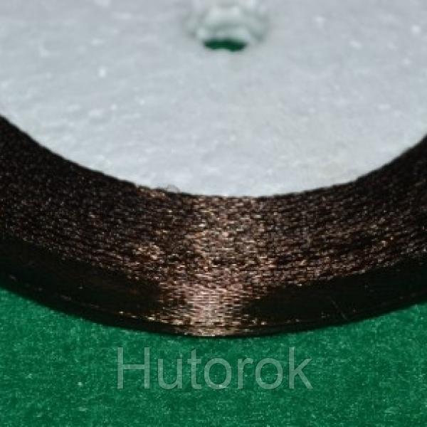 Лента атласная 0,6 см (коричневый)