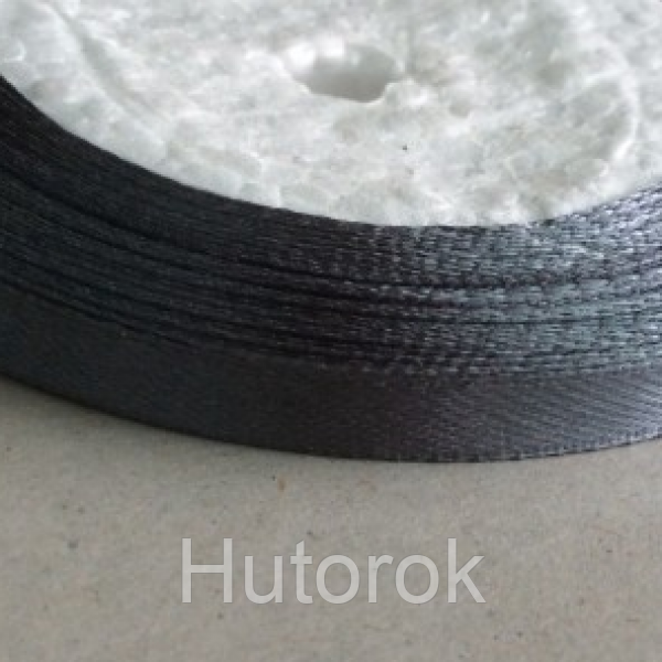 Лента атласная 0,6 см (серый)