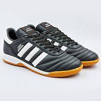 Футбольные футзалки бампы Обувь для футзала AD COPA MANDUAL Полиуретан Черный (СПО OB-3069) 40 размер
