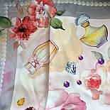 10128-2, павлопосадский шийну хустку (крепдешин) шовковий з подрубкой, фото 7