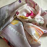 10128-2, павлопосадский шийну хустку (крепдешин) шовковий з подрубкой, фото 5
