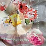 10128-2, павлопосадский шийну хустку (крепдешин) шовковий з подрубкой, фото 10