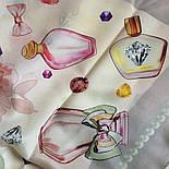 10128-2, павлопосадский шийну хустку (крепдешин) шовковий з подрубкой, фото 3