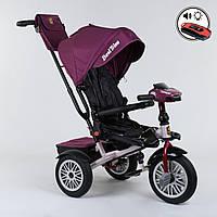 Велосипед 3-х колёсный Best Trike с поворотным сиденьем 9288 В - 6945, складной руль, русское озвучивание, надувные колеса, пульт включения света и