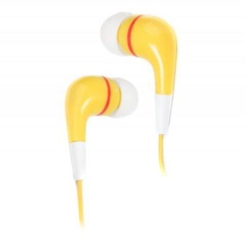 Наушники Maxxter EPM-104Y, желтые (круглый провод)