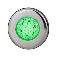 Прожектор светодиодный AquaViva LED203 54LED (5Вт) RGB, лицевая нерж сталь