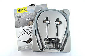 Bluetooth наушники Aspor A638S (Magnetic, Sport, V4.2) Silver