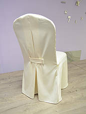 Чохол на стілець Трапеція з Щільної Тефлон тканини Шампань, фото 2