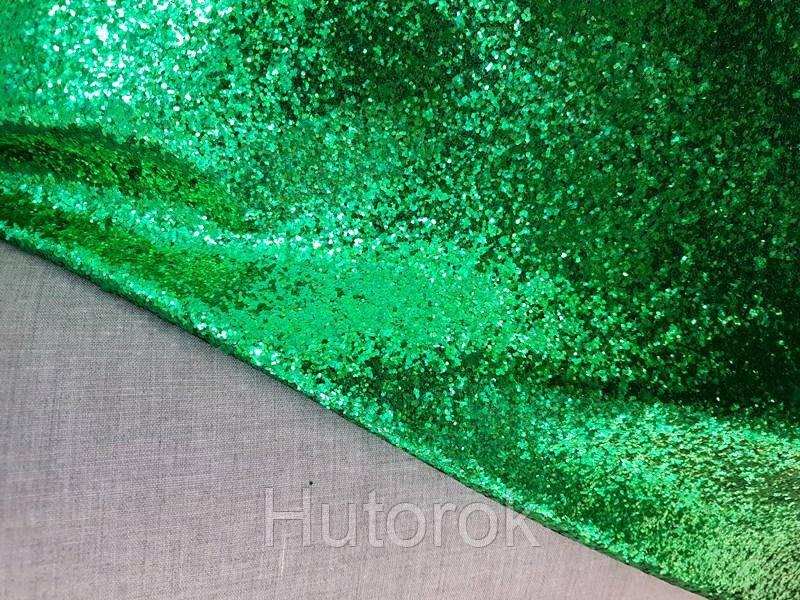 Глиттер хб плотный крупный (зеленый)