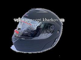 Шлем Jiekai черный матовый трансформер, Night Rider М 57-58 см