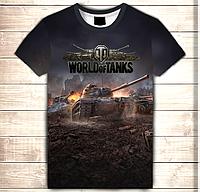 Футболка 3D World of tanks, фото 1