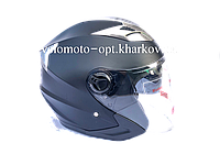 Шлем открытый, без бороды, с очками черный матовый MP