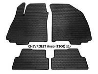 Резиновые автомобильные коврики в салон CHEVROLET Aveo (T300) 2011 шевроле авео Stingray