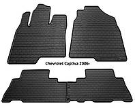 Резиновые автомобильные коврики в салон CHEVROLET Captiva 2006 шевроле каптива Stingray
