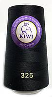 Нить армированная Черная 30/2 3000ярдов Kiwi