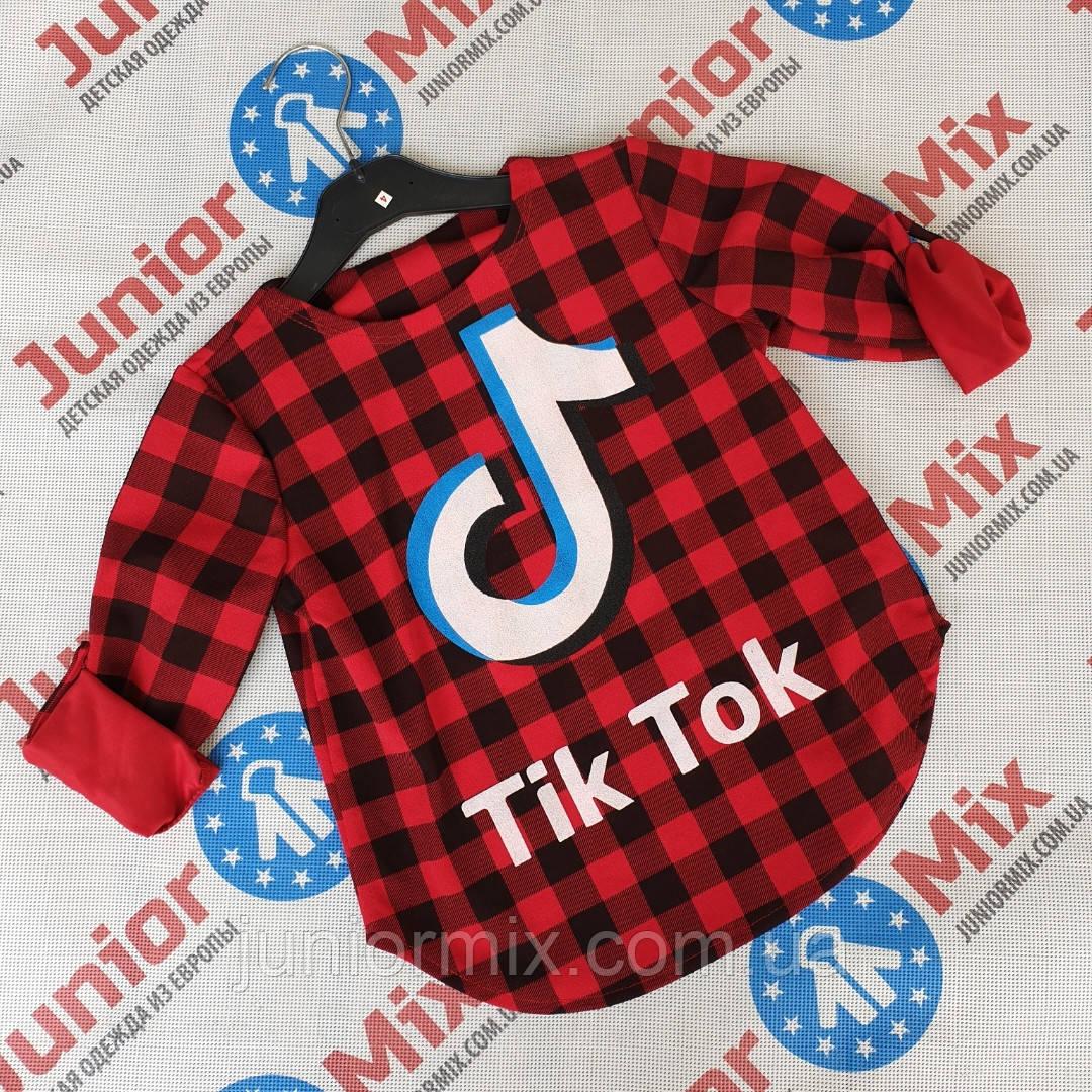 Детские рубашки в клеточку для девочек оптом   Tik Tok