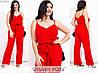 Лляний костюм жіночий з брюками (5 кольорів) МЕ/-238/1 - Червоний